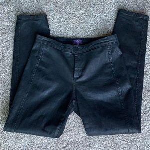 NYDJ Black Waxed Skinny Jeans